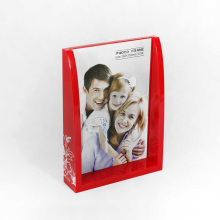 Cheap Custom Red Acrylic Box Photo Frames