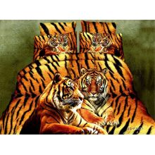 Tiger pattern prue microfiber printed fabric