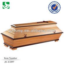 wholesale handcraft new pecan coffin