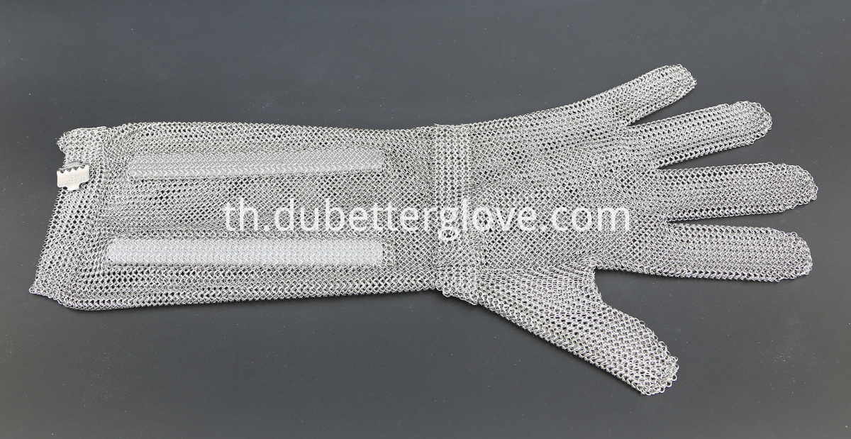 Dubetter steel mesh gloves with metal hook strap