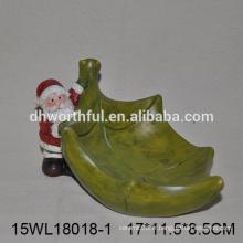 Vente en usine de plaques de céramique pour bonbons avec noël Santa Claus