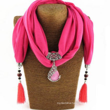 Fashion Women's Elegant Charm Tassels Rhinestone Decorated Jewelry Pendant Shawl