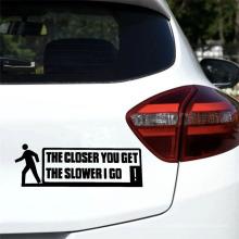 Стикеры изготовленных на заказ стикеров автомобиля автомобиля конструкции предупреждения 22Cmx8Cm, умирают дизайн стикера стороны тела автомобиля