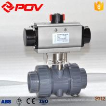 Pneumatischer Kunststoff PVC Kugelhahn
