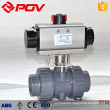 pneumatic plastic pvc ball valve