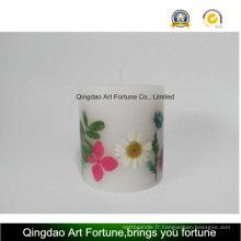 Bougie d'inclusion de fleurs sèches - Verser à la main
