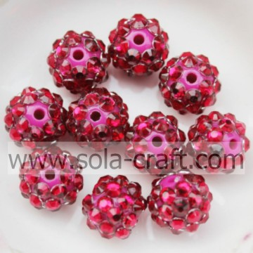 Hars Rhinestone Beads10 * 12 MM Rose solide kleine afstandhouders voor DIY Necklace