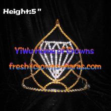 5inch Wholesale Crowns With Diamond Shaped In The Middle Of