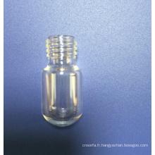 Visser le flacon en verre Mini tubulaire avec fond rond