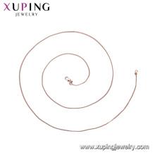 44403 -xuping jóias preço barato e alta qualidade fina cadeia colar com banhado a ouro
