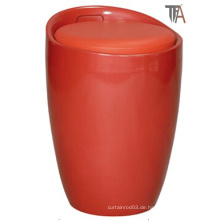 Red ABS mit Stoff Material Bar Hocker