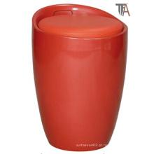 ABS vermelho com material de tecido Stool