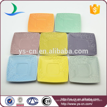Hot sale colorful ceramic square plates