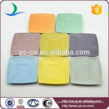Hot sale colorful ceramic square plates