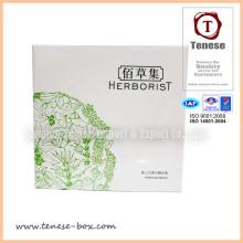 Caixa de conjunto de cosméticos projetados com impressão UV