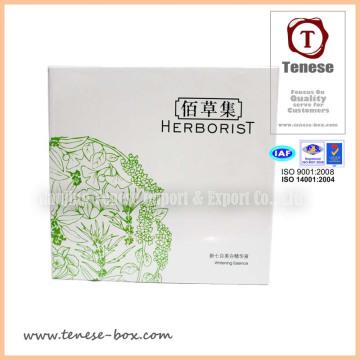 Caja de embalaje de encargo de los cosméticos de la impresión de la alta calidad con Lumination brillante
