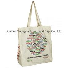Promocional saco de transporte impresso personalizado reutilizável de algodão