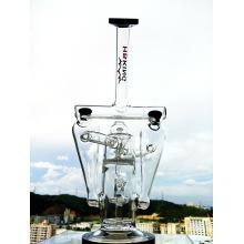 Труба Rasta Glass для курения Enjoylife Новейшая стеклянная водопроводная батарея Двухтрубная сотовая система Перфорированные трубы для курения труб Bubbler Oil 14mm Joint