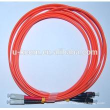 SC / FC MM Duplex 2.0mm Cordon de fibre optique
