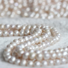11-12mm 3mm Big Hole Nearly Round Freshwater Pearl Strand E180009