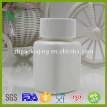 60ml pharmaceutique blanc de qualité supérieure HDPE carré bouteille médicale vente chaude