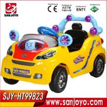 Paseo en 4 ruedas para niños en coche Coche eléctrico de 4 canales con luz Cochecitos de juguete para bebé con música HT-99823