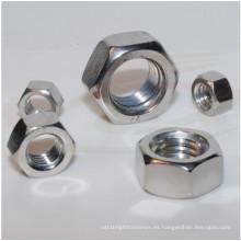 Tuercas hexagonales de acero inoxidable ISO4032 con zinc