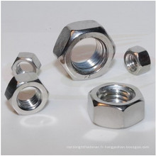 Noix hexagonales en acier inoxydable ISO4032 avec zingué