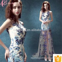 Vivid Magnificent Appliqued Mermaid Floor-Length Lace Evening Dress