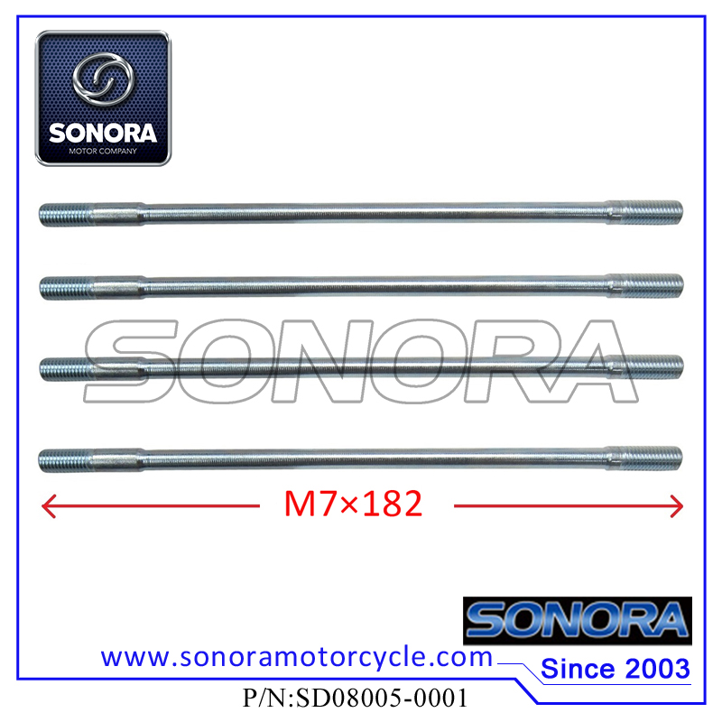 SD08005-0001 Cylinder Head Long Studs(M7×182)