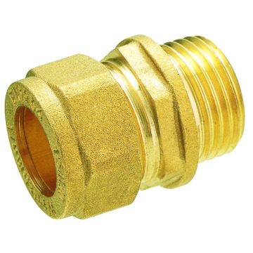 Forged Brass Straight Compression Male Coupler Fittings