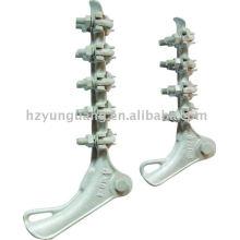 abrazadera de tensión / línea de montaje / accesorios de línea eléctrica