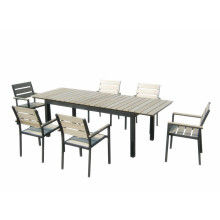 7pc alu extension dining set