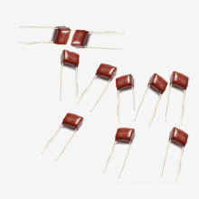 China Capacity Manufacture Topmay 0.22UF +-10% 250V Electronics Metallized Polyester Film Capacitor Mkt-Cl21