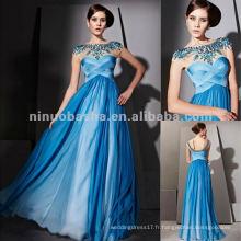 NY-2561 Vintage Corset Robe de soirée longue bleue