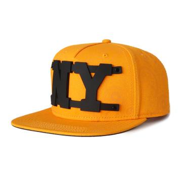 viseira plana de sarja de algodão com chapéu com logotipo personalizado