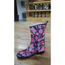 Full Flower And Butterfly Printing Rain Boots
