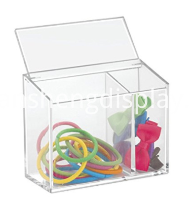 2 Compartments Clear Acrylic Cosmetic Organizer