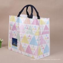 La alta calidad recicla la pantalla de seda tejida PP que imprime el bolso de compras tejido PP