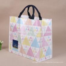 A alta qualidade recicl o saco de compras tecido PP tecido da impressão de tela de seda PP