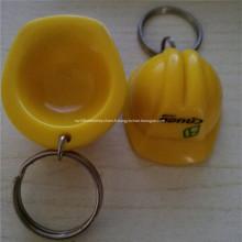 Porte-clés en plastique promotion casque