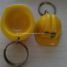 Werbeartikel aus Kunststoff Schlüsselanhänger Helm