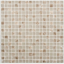 8mm Stone Marble Mix Crystal Glass Mosaic for Bathroom