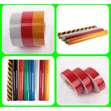 5cm Width Hazard Warning Pressure Sensitive Type Retro PVC Reflective Tape, High Visibility Grade Reflective