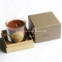 Velas de tarro de cristal perfumadas en caja de regalo de lujo