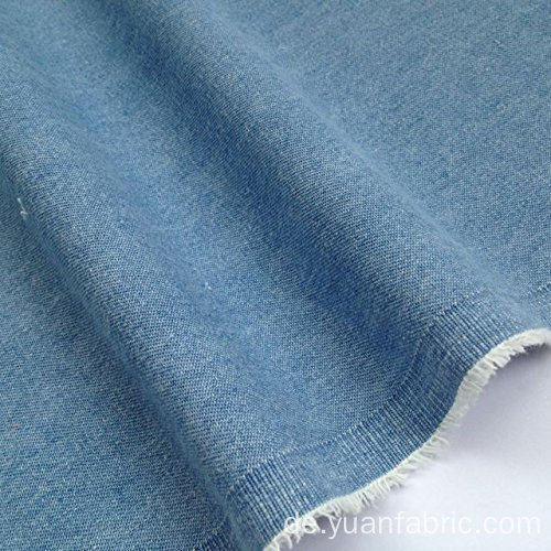 Washed Denim Fabric 100% Baumwolle Hellblau