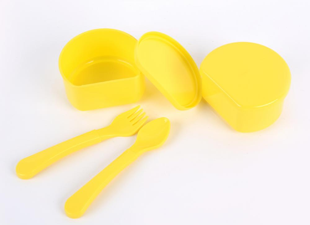 4PCS PP Baby Feeding Bowl with Baby Spoon and Fork