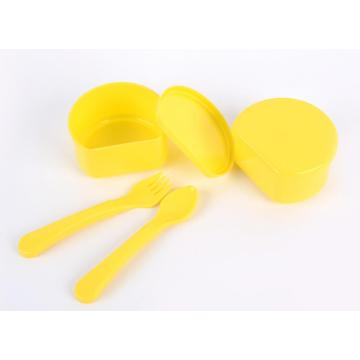4PCS Baby Feeding Bowl with Spoon and Fork