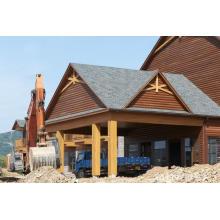 Casa moderna de madera de la cabaña de madera de la venta caliente