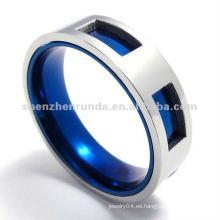 2012 el más nuevo anillo azul del acero inoxidable del color del IP